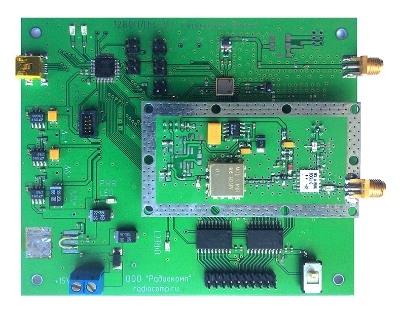 Evaluation board for 1288PL1U chip