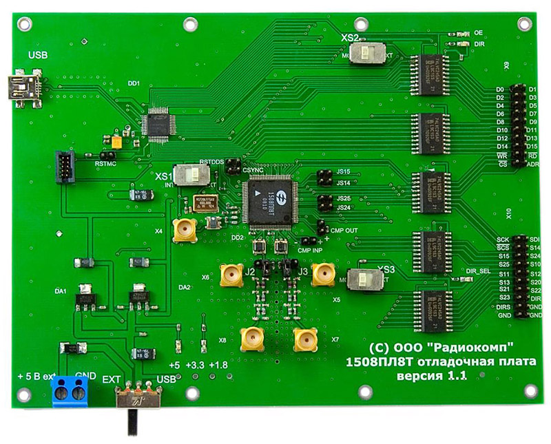 Evaluation board for 1508PL8T chip